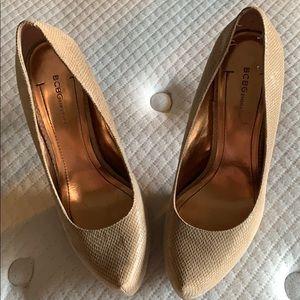 Cashew/Sandlewood platform heel